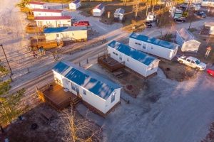 Aerial View of Cottages