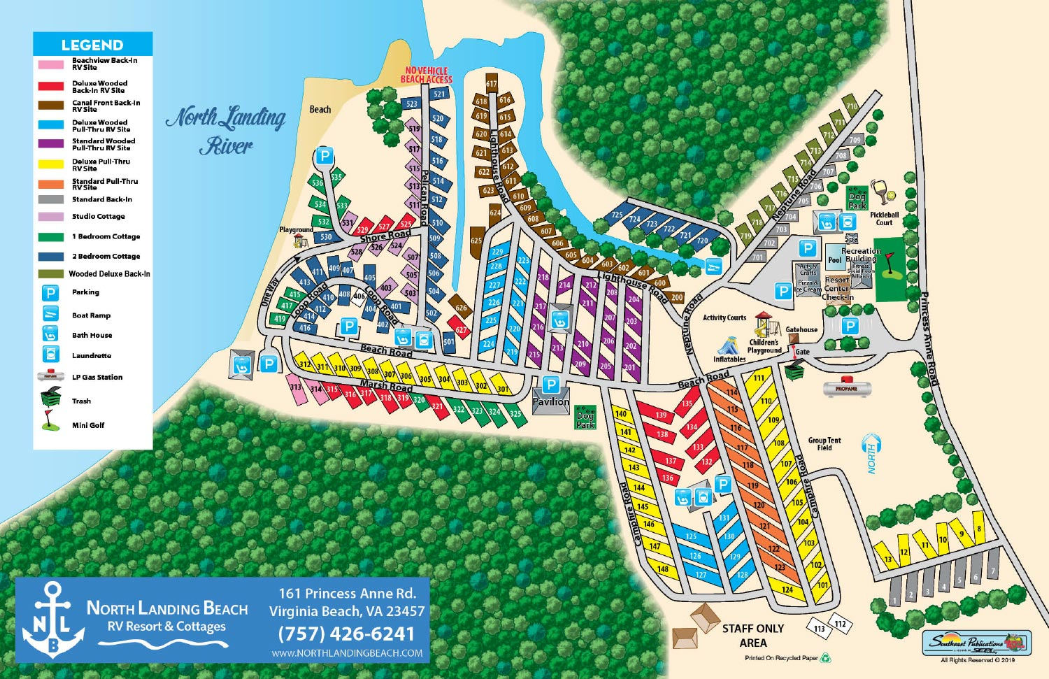 North Landing Resort Map
